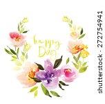 Watercolor Flower Wreath....