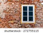 Small photo of house masonry restoration, symbol of insulation, renovation, botch