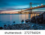 bay bridge in san francisco... | Shutterstock . vector #272756024