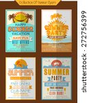 collection of summer party... | Shutterstock .eps vector #272756399