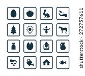 agriculture  farm icons... | Shutterstock .eps vector #272757611