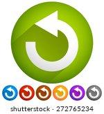 arrow following a circle path ... | Shutterstock .eps vector #272765234