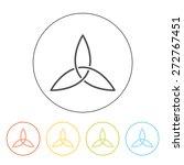triad line icon  vector.... | Shutterstock .eps vector #272767451