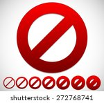 red prohibition  restriction  ... | Shutterstock .eps vector #272768741