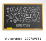 education hand draw integrated... | Shutterstock .eps vector #272769551