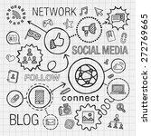social media hand draw... | Shutterstock .eps vector #272769665