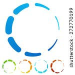 circular  round design elements.... | Shutterstock .eps vector #272770199