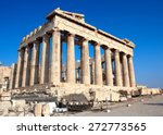 parthenon on the acropolis in... | Shutterstock . vector #272773565