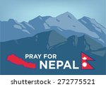 pray for nepal. earthquake... | Shutterstock .eps vector #272775521