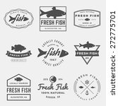 vector set of fresh fish labels ... | Shutterstock .eps vector #272775701