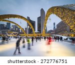 Stock photo nathan phillips square in toronto canada 272776751