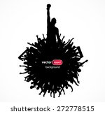 silhouette of a fighter. poster. | Shutterstock .eps vector #272778515