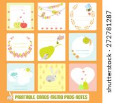 romantic cards  notes  labels ... | Shutterstock .eps vector #272781287