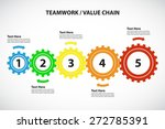teamwork   value chain   5... | Shutterstock .eps vector #272785391