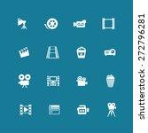 cinema icon set   Shutterstock .eps vector #272796281