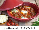 moroccan tagine of lamb with... | Shutterstock . vector #272797451