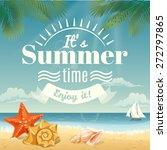 vector summer background with... | Shutterstock .eps vector #272797865