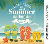 vector summer background with... | Shutterstock .eps vector #272797901