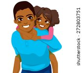 handsome african american young ... | Shutterstock .eps vector #272803751