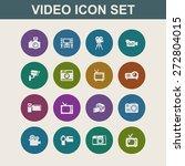 video icon set   Shutterstock .eps vector #272804015