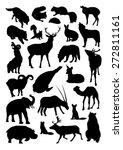 wild animals set | Shutterstock .eps vector #272811161
