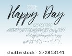 vector alphabet. hand drawn... | Shutterstock .eps vector #272813141