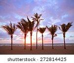 miami beach  florida colorful...   Shutterstock . vector #272814425