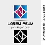 vector   letter n logo icon  | Shutterstock .eps vector #272815055