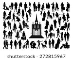 people at the station... | Shutterstock .eps vector #272815967