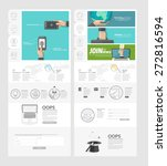 website template with concept...
