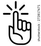 attention finger vector icon | Shutterstock .eps vector #272817671