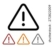 alert warning   caution... | Shutterstock .eps vector #272822009