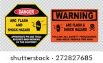 high voltage sign or electrical ... | Shutterstock .eps vector #272827685