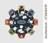 business teamwork  business... | Shutterstock .eps vector #272828159
