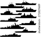 contour image of amphibious... | Shutterstock .eps vector #272829689