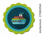 transportation ferry flat icon... | Shutterstock .eps vector #272843564