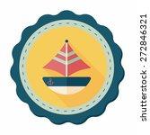 transportation sailboat flat... | Shutterstock .eps vector #272846321