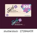 gift voucher flowers pink | Shutterstock .eps vector #272846459