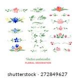 vector watercolor floral...