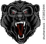 bear mascot menacing opened his ...   Shutterstock .eps vector #272852444