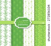 set of seamless duo tone nature ... | Shutterstock .eps vector #272856104
