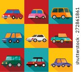 cars  flat designs | Shutterstock .eps vector #272861861