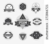 black and white hipster logo.... | Shutterstock .eps vector #272866721
