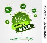 vector watercolor banner with... | Shutterstock .eps vector #272866751