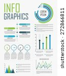 stylish infographics collection ... | Shutterstock .eps vector #272866811