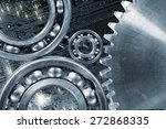 computer calibrated gears and... | Shutterstock . vector #272868335