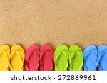 Row Of Flip Flop Sandals ...