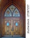 Set Of Gothic Wooden Church...