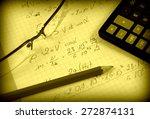 advanced physics and maths... | Shutterstock . vector #272874131