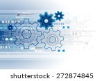 abstract technology business... | Shutterstock .eps vector #272874845